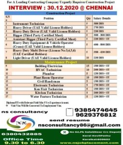 Gulf job updates – 100+ Job vacancies for construction co. UAE