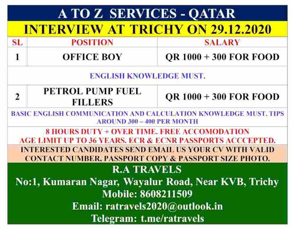 Job interview for Qatar