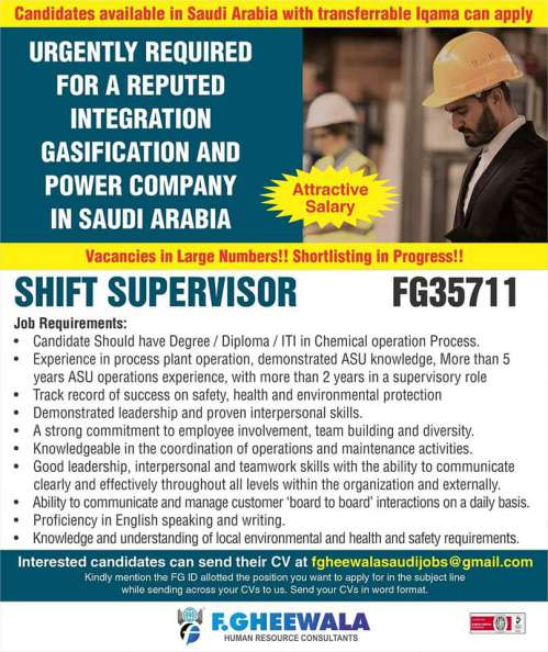Overseas Assignments - Urgently required for Saudi, UAE and Russia