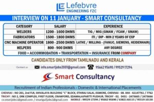 Gulfwalkin Chennai – Recruitment for Lefebvre Engineering FZC Dubai
