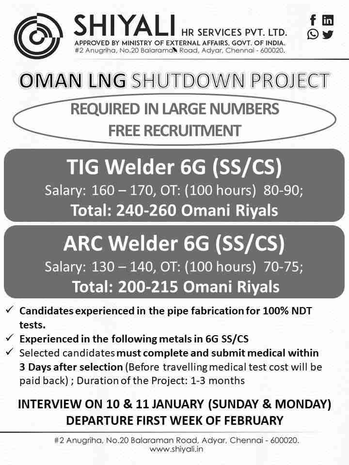 Gulf job free requirement