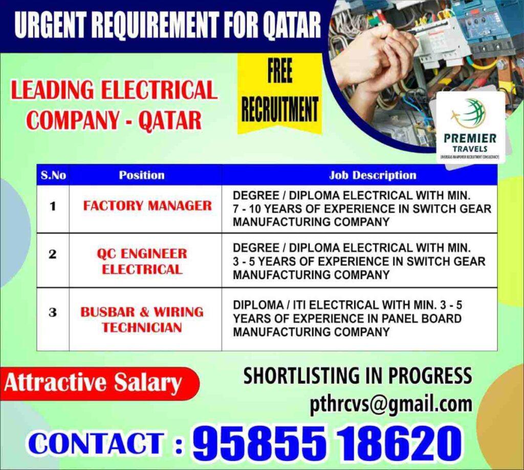 Job vacancies for Qatar