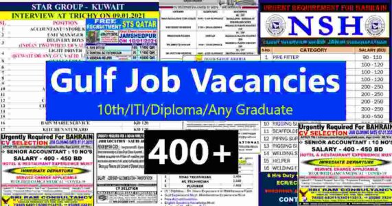 Gulf job vacancy today | 400+ Job vacancies for Gulf