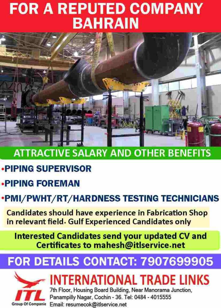 Gulf jobs Bahrain recruitment