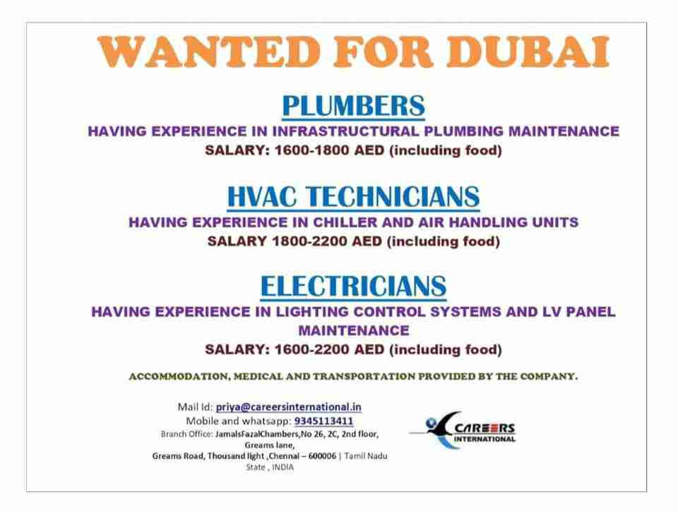 Gulf Jobs 2021 | Job Interviews across India - Qty 150+