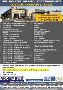 Gulfwalkin – Large vacancies for Grand Hypermarket in UAE, Qatar, Oman
