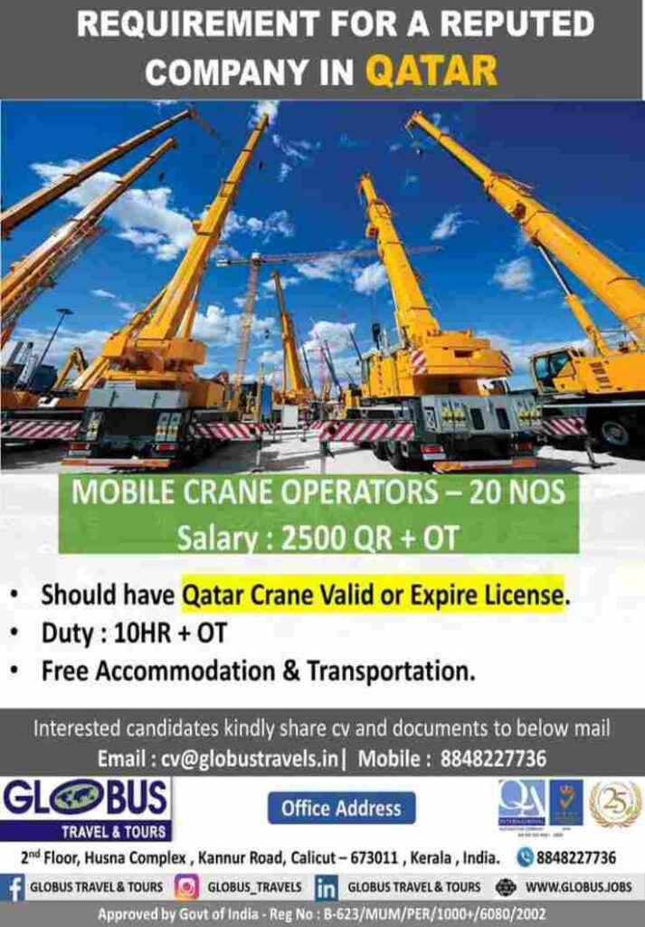 Mobile Crane Operator jobs