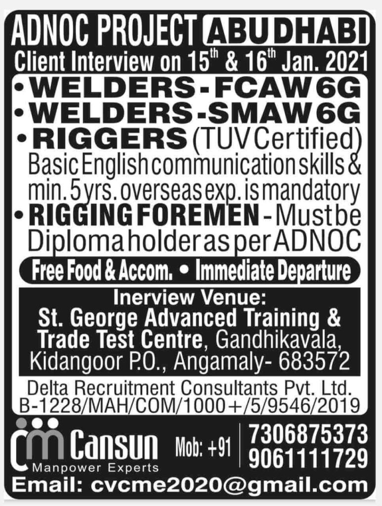 Job vacancies for Abu-Dhabi