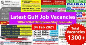 Gulf Job Paper – Latest Gulf job interviews in India