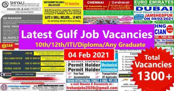 Gulf Job Paper – Latest Gulf job interviews in India