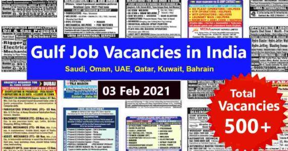 Gulf job vacancy – Latest Gulf job vacancies for Indians