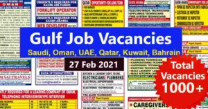 Assignment Abroad Times   Gulf job vacancies across India – 1000+ posts