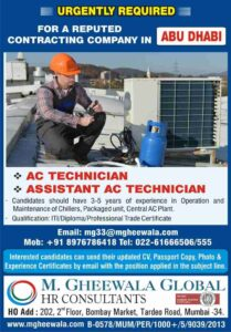 Gulf Jobs | Urgently required for Dubai – Ac Technician