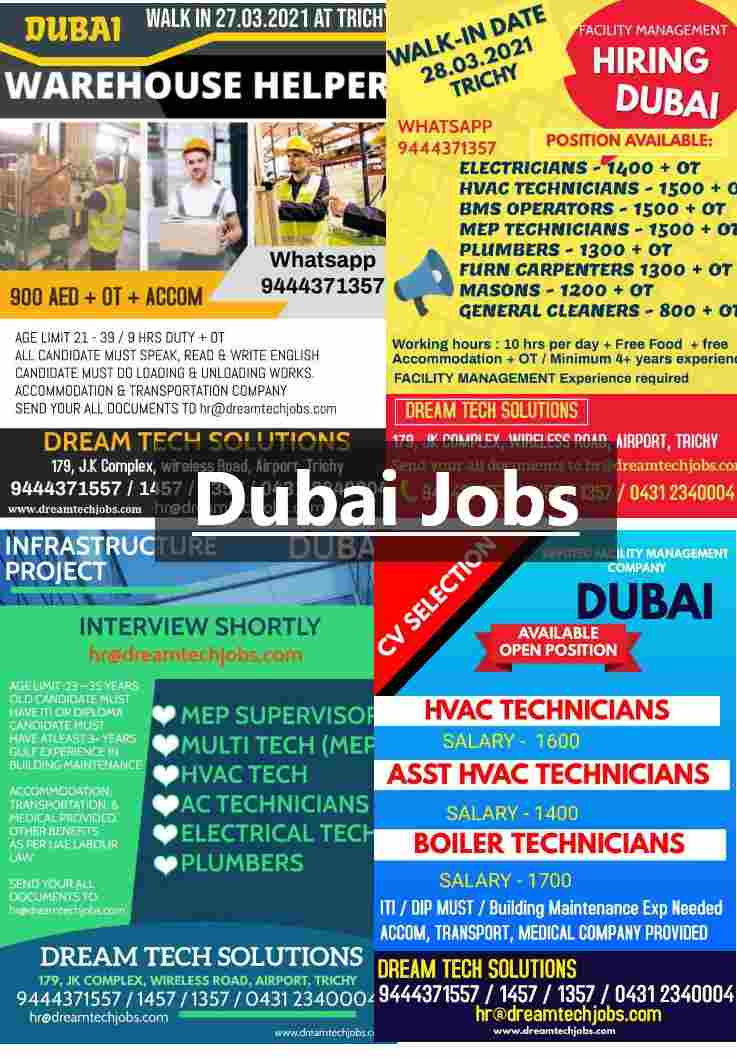 Gulf jobs – Latest job vacancies in Dubai for various positions