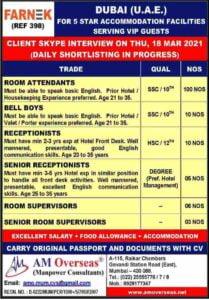 Dubai Hotel jobs – Farnek LLC. a Property management company in Dubai