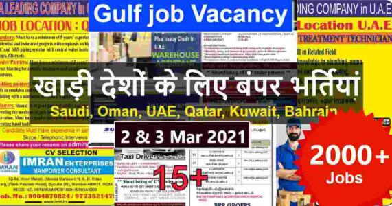 Gulf jobs | Latest Gulf job vacancies in India – 2000+ Jobs