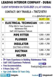 Gulf jobs today – Leading interior design company in Dubai