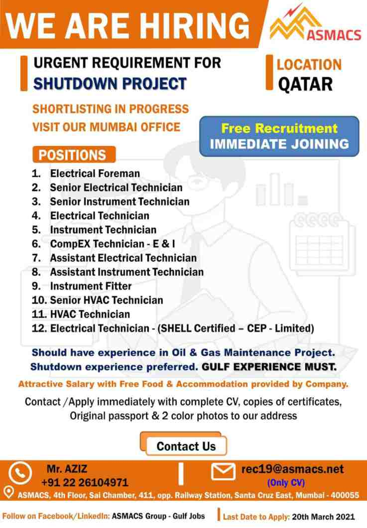 Oil & Gas jobs – Large number of job vacancies for Qatar