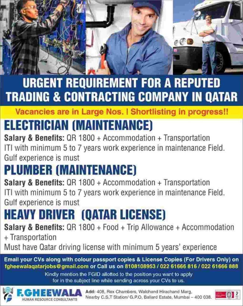 Qatar jobs - Job vacancy for Qatar