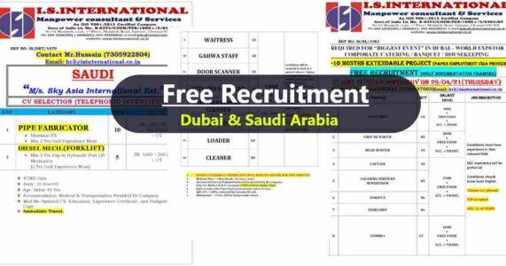 Abroad Jobs – A large number of job vacancies for Dubai and Saudi Arabia