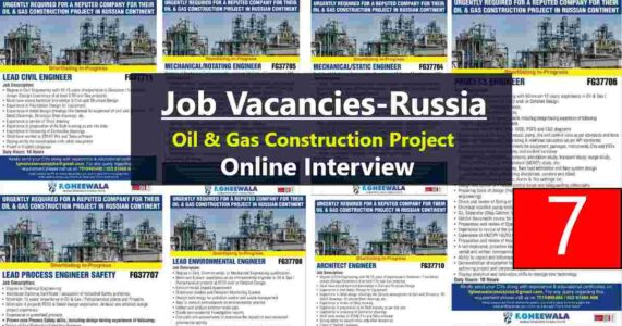 Abroad Jobs – Jobs in Russia for a leading Oil & Gas Construction project