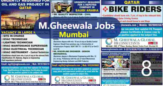 Abroad jobs – Large job vacancy for Saudi, UAE, Qatar, Bahrain