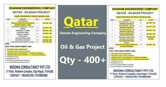 Oil and Gas job search – Danem Engineering Company in Qatar