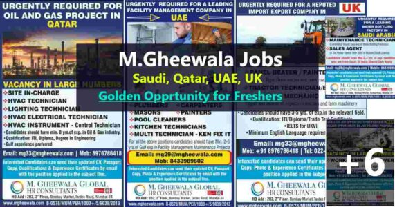 GccWalkin – Job vacancies for UK,  Saudi Arabia, UAE, & Qatar