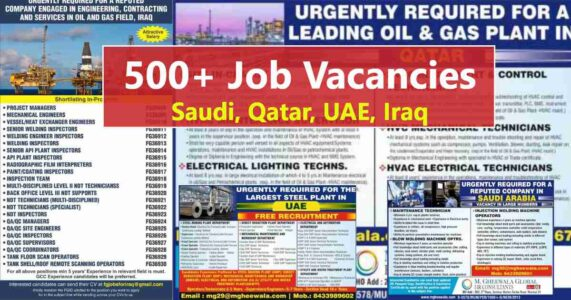 GccWalkin – Job vacancies for UAE, Qatar, Saudi Arabia, and Iraq