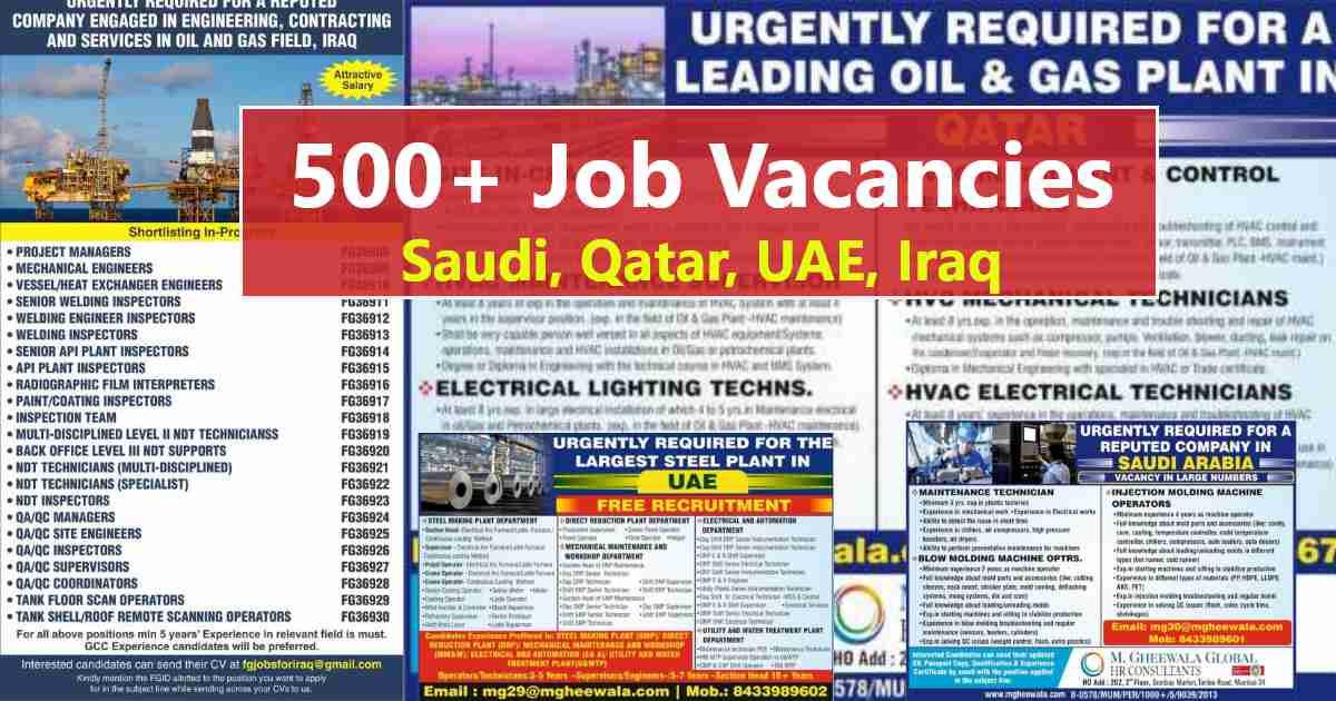 GccWalkin – Job vacancies for UAE, Qatar, Saudi Arabia, and Iraq