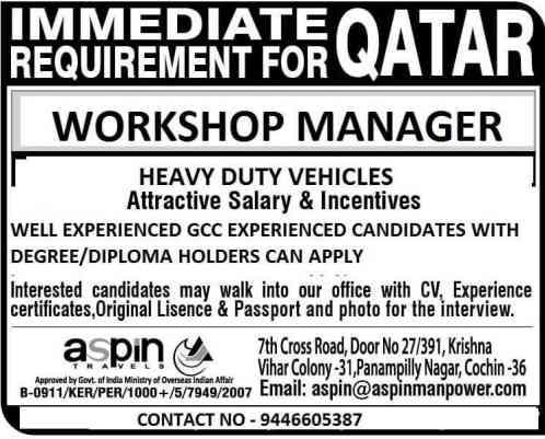 Gulf Jobs - Urgent requirements for Saudi Arabia, Qatar, and Dubai