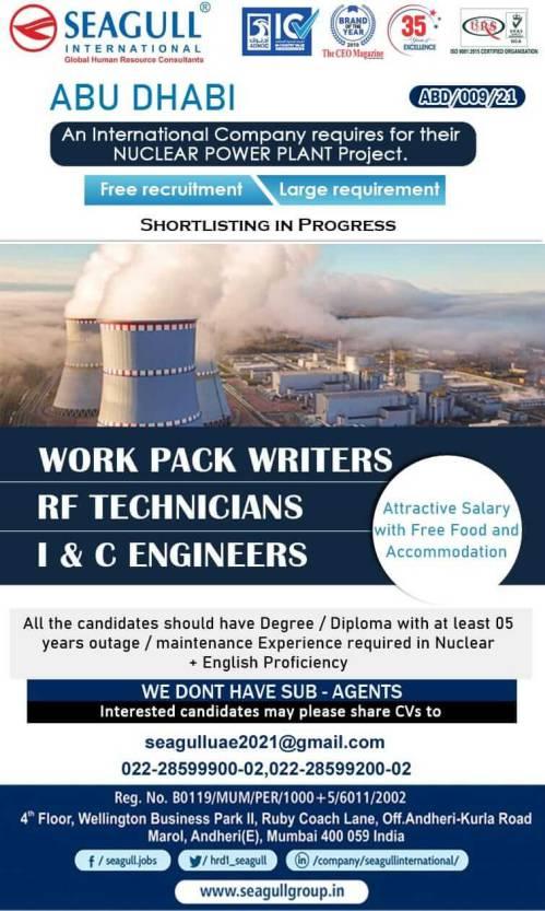Urgent Requirements - Large job vacancies for Oman & Abu-Dhabi