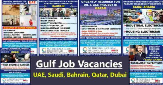 Jobs Abroad – Vacancies for UAE, Saudi Arabia, Dubai, Bahrain & Qatar