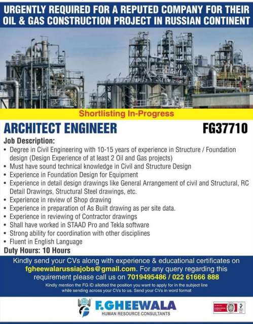 Abroad Jobs - Jobs in Russia for a leading Oil & Gas Construction project