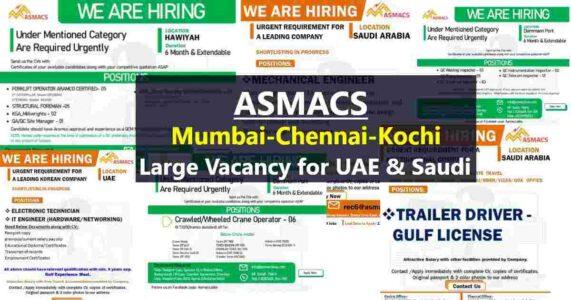 Overseas Employment News – Job vacancies for UAE and Saudi Arabia