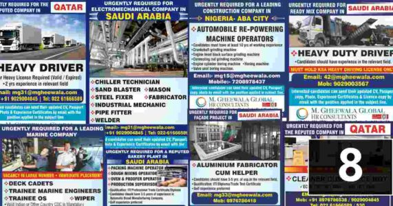 Overseas employment News – Latest job vacancies for Gulf