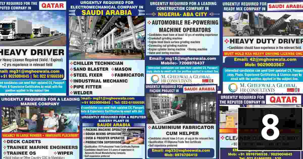 Overseas employment News – Latest job vacancies for Gulf