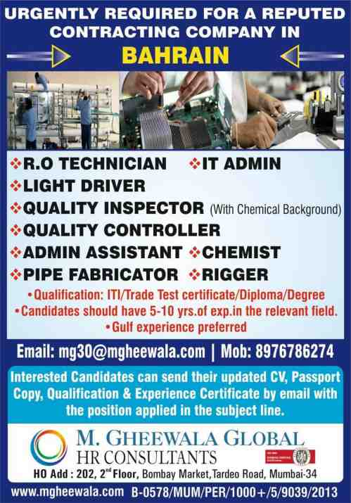 Requirement for Contracting Company in Bahrain