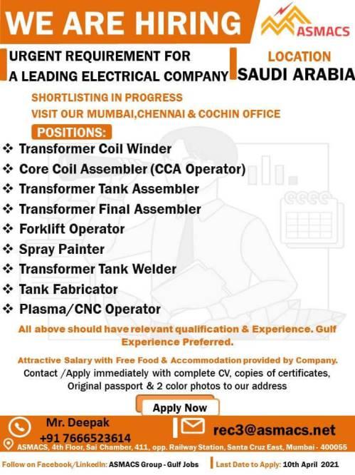 Gulf Job vacancy