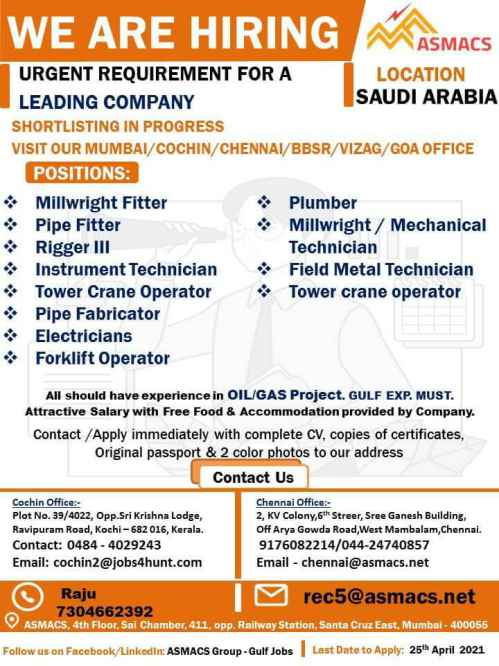 Overseas Jobs - 200+ Job vacancies for Saudi Arabia, UAE, and Kuwait