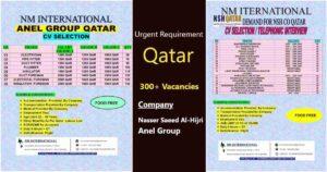 Job vacancy for Qatar