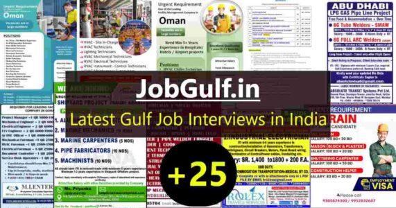 Gulf job interviews – 500+ job vacancies for Gulf