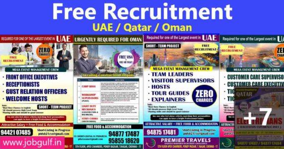 Gulfwalkin – Large job vacancies for Oman, UAE, Qatar