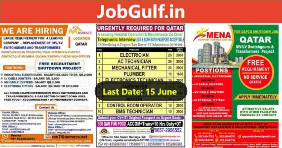 Job vacancies in Qatar – Shutdown / Maintenance company