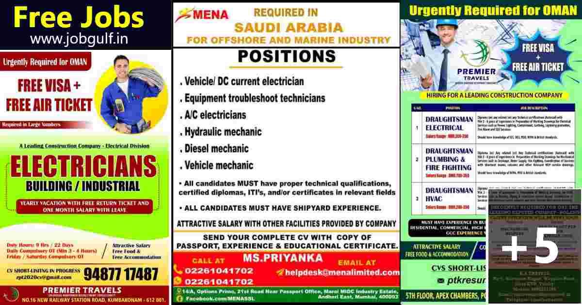 Overseas Jobs |  Job vacancies for Oman, Saudi, and Poland