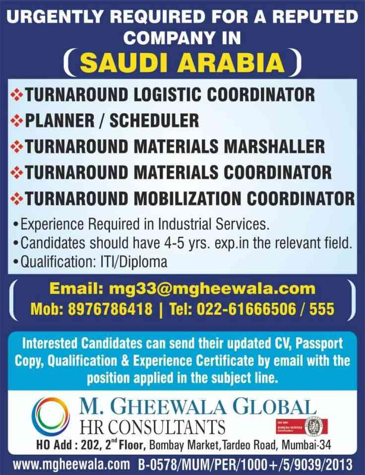 Saudi Arab jobs