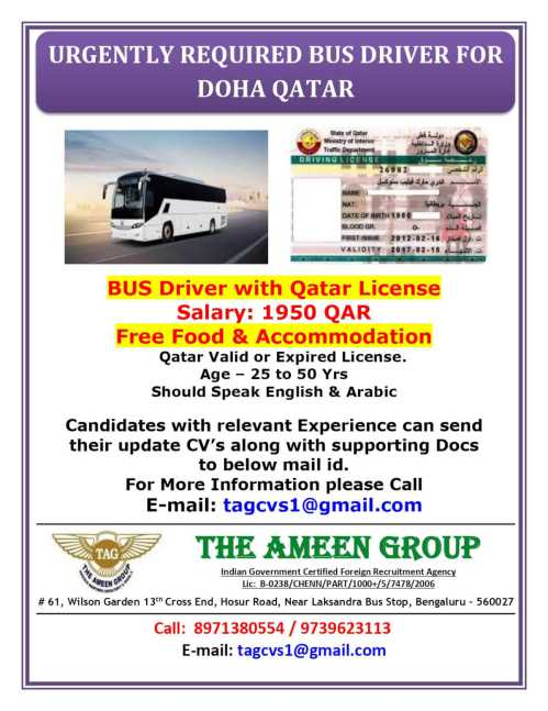 Bus Driver jobs in Qatar
