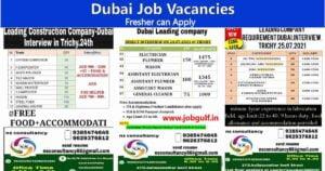 Dubai Job vacancy