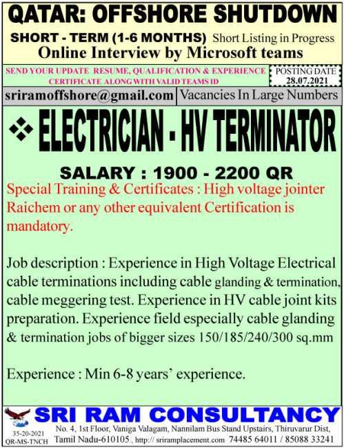 Electrician - HV Terminator