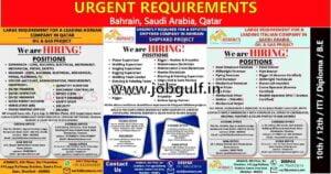 Gulf jobs abroad